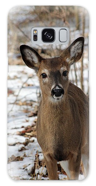 Snow Deer Galaxy Case by Lorna Rogers Photography