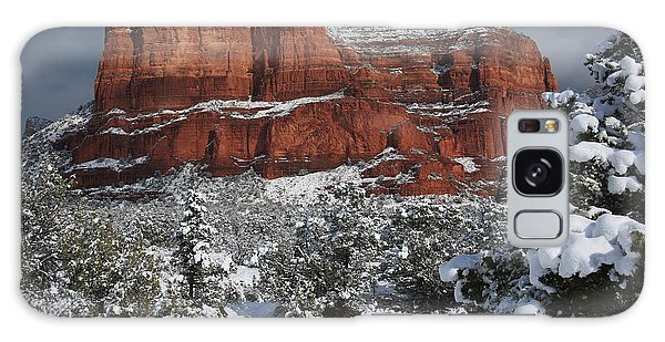 Snow In Sedona Galaxy Case