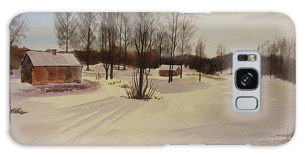 Snow In Solbrinken Galaxy Case by Martin Howard