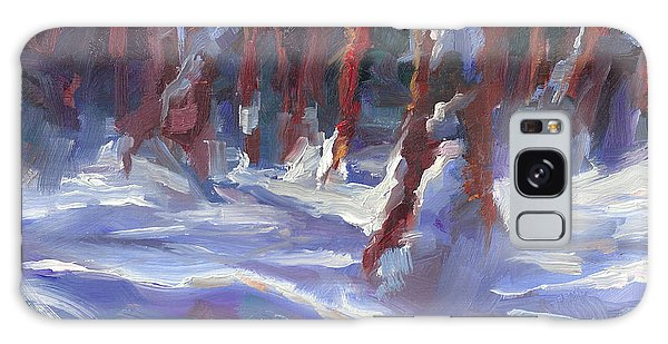 Snow Laden - Winter Snow Covered Trees Galaxy Case