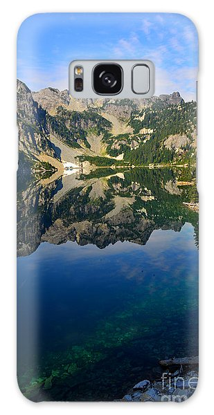 Snow Lake Reflections Galaxy Case by Jane Axman
