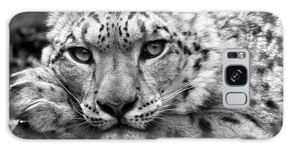 Snow Leopard In Black And White Galaxy Case