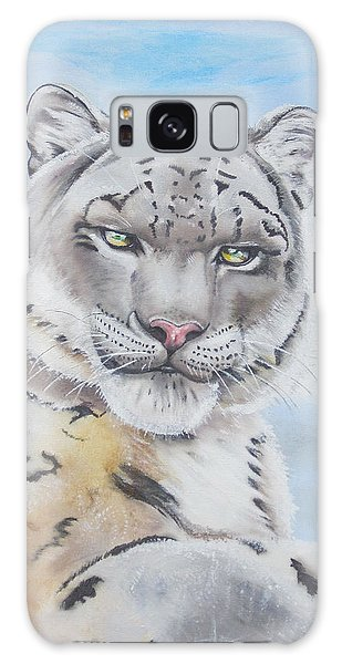 Snow Leopard Galaxy Case by Thomas J Herring