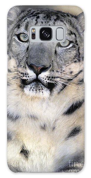 Snow Leopard Portrait Endangered Species Wildlife Rescue Galaxy Case
