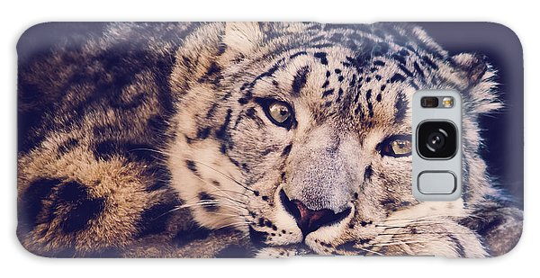 Snow Leopard Galaxy Case by Sara Frank