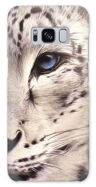 Snow Leopard Galaxy Case by Sheena Pike