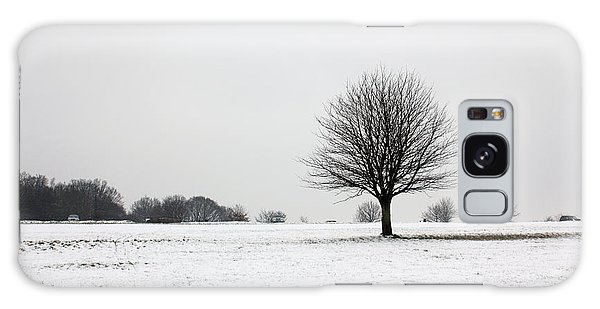 Snow On Epsom Downs Surrey England Uk Galaxy Case