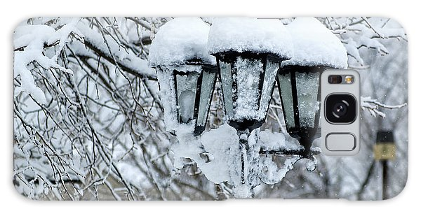Snow On Lamps Galaxy Case