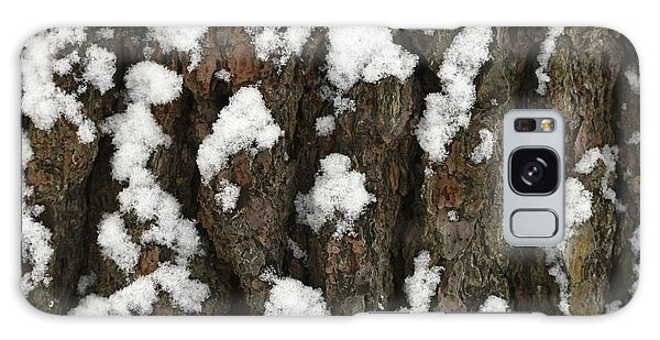Snow On Pine Bark Galaxy Case