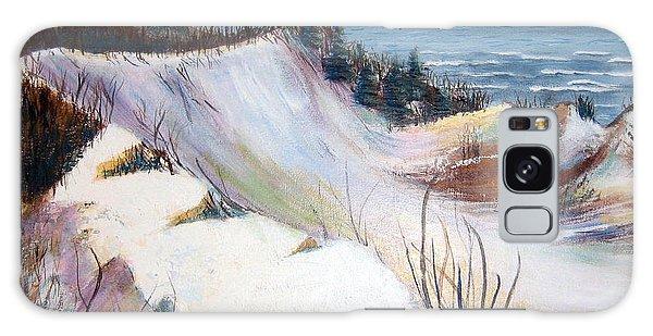 Snow On The Dunes Galaxy Case