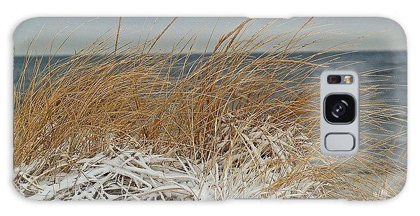 Snow On The Dunes Galaxy Case by Nancy Landry
