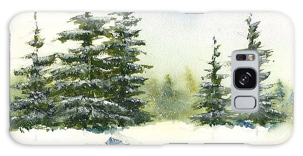 Snow On The Pines  Galaxy Case