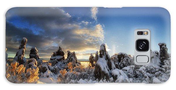 Snow On Tufa At Mono Lake Galaxy Case