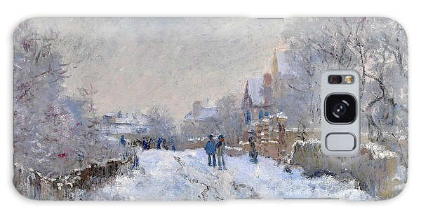 Snow Scene At Argenteuil Galaxy Case