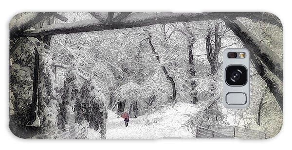 Snow Scene In Central Park Galaxy Case