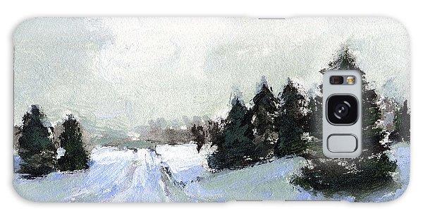 Snow Scene Galaxy Case