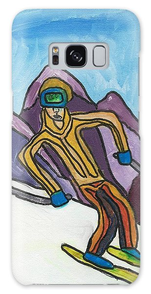 Snow Skier Galaxy Case by Artists With Autism Inc