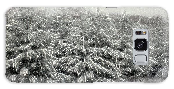 Snow Trees And Fox Textured Galaxy Case
