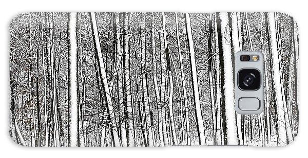 Snow Trees Galaxy Case
