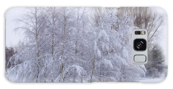 Snow Trees Galaxy Case