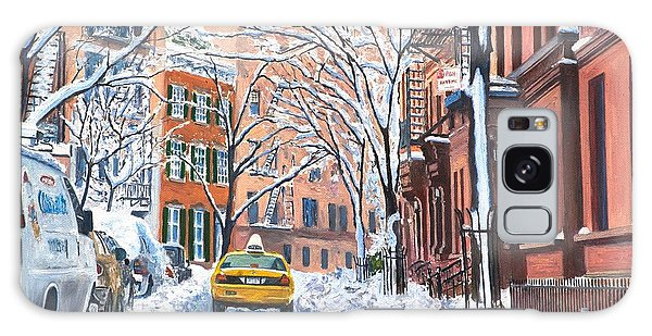 Snow West Village New York City Galaxy Case by Anthony Butera