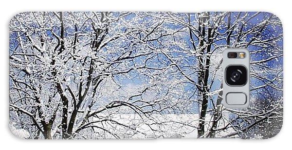 Sunny Galaxy Case - #snow #winter #house #home #trees #tree by Jill Battaglia
