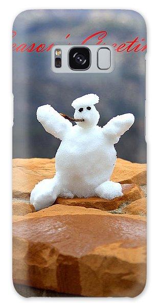 Snowball Snowman Galaxy Case