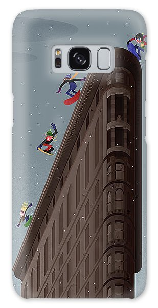 Snowboarders Fly Off The Flatiron Halfpipe Galaxy S8 Case