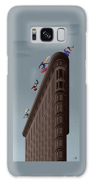 Snowboarders Fly Off The Flatiron Halfpipe Galaxy Case