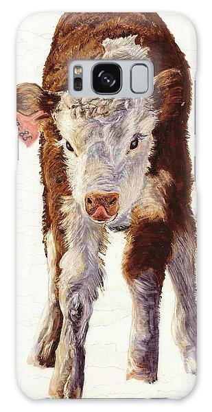 Country Life Winter Baby Calf Galaxy Case