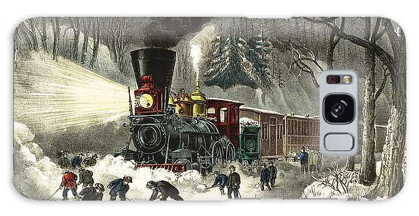 Snowbound Locomotive 1871 Galaxy Case