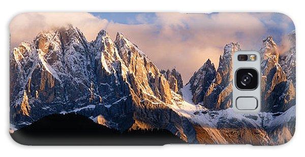 Snowcapped Mountain Peaks, Dolomites Galaxy Case