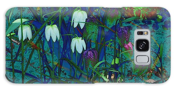 Snowdrops Galaxy Case by Kathie Chicoine