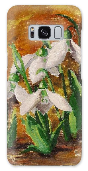 Snowdrops Galaxy Case by Nina Mitkova