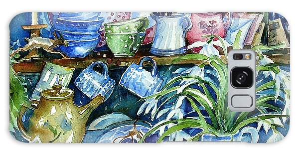 Snowdrops On A Kitchen Dresser Galaxy Case by Trudi Doyle