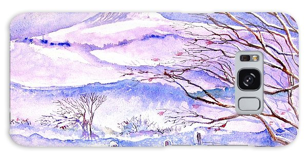 Snowfall On Eagle Hill Hacketstown Ireland  Galaxy Case