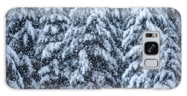 Snowflakes Galaxy Case