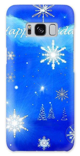 Snowflakes Galaxy Case