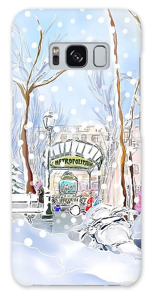 Snowing In Montmartre Galaxy Case