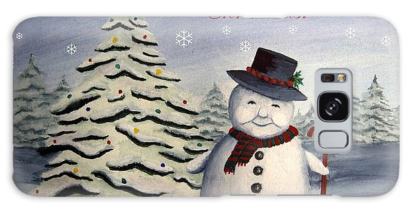 Snowman's Christmas Galaxy Case