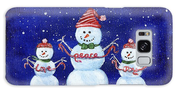 Snowmen Galaxy Case