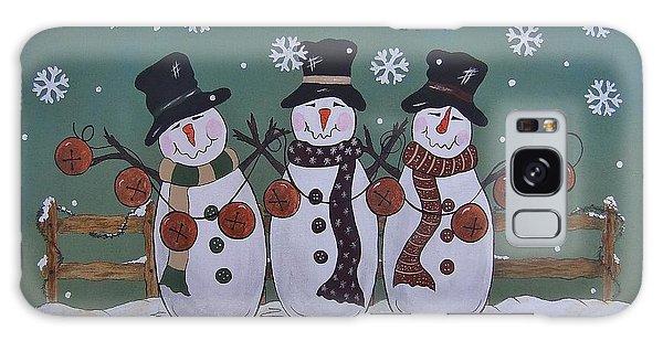 Snowmen Jingle Galaxy Case