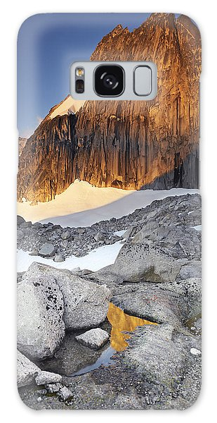 Snowpatch Spire At Sunrise Galaxy Case