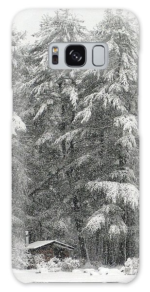 Snowstorm In The Woods Galaxy Case