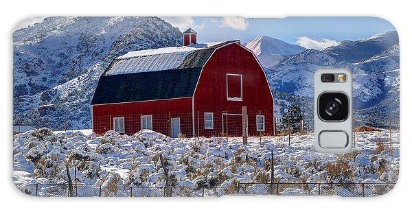 Snowy Barn In The Mountains - Utah Galaxy Case