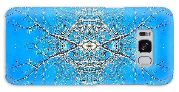 Snowy Branches In The Sky Abstract Art Photo Galaxy Case by Marianne Dow