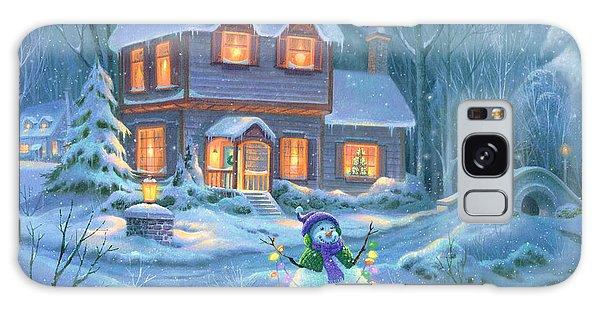Snowy Bright Night Galaxy Case