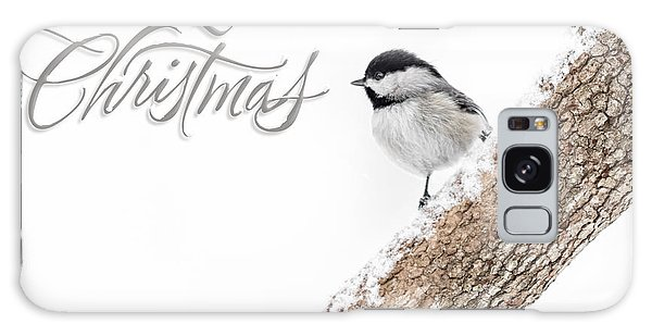 Snowy Chickadee Christmas Card Galaxy Case