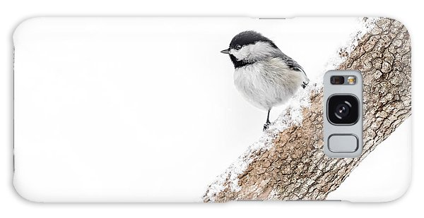 Snowy Chickadee Galaxy Case