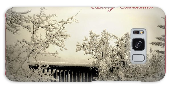 Snowy Christmas Galaxy Case